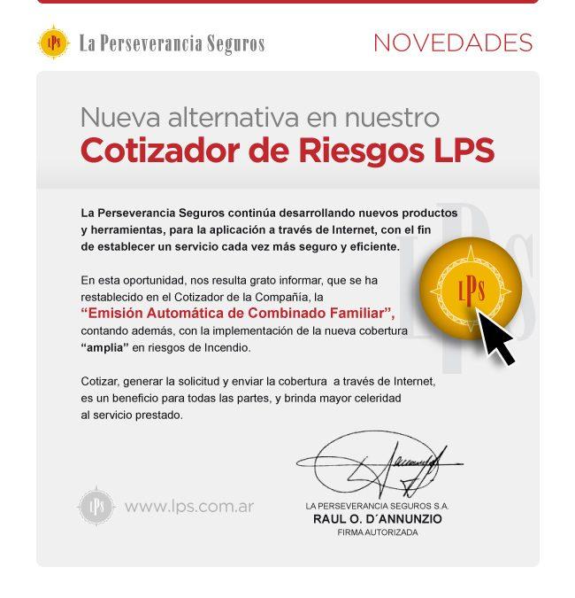 Cotizador de Riesgos LPS – Nueva Sección